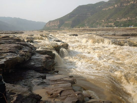 Ji County, China: Yellow River above the falls