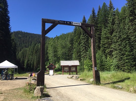 Mullan, ID: Hiawatha trail head