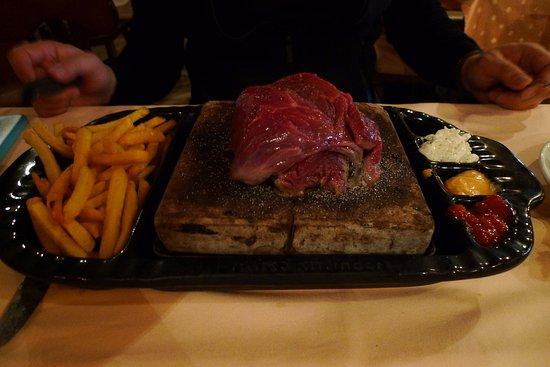 Nuerburg, Germany: Steak on stone