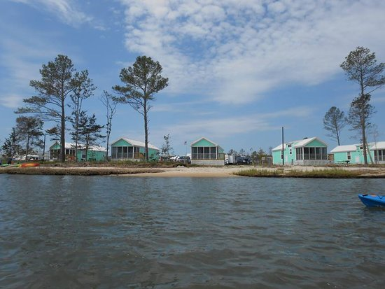 Millsboro, DE: A view of the cabins from Rehoboth Bay