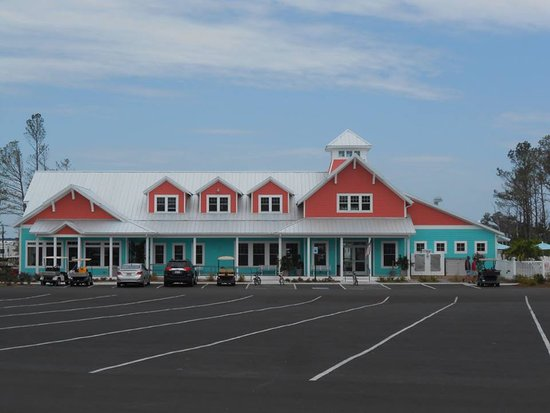 Millsboro, DE: The Resort office, store, ice cream shop, gym and grill/cafe building