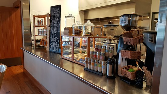 Camano Island, Waszyngton: The cafe counter