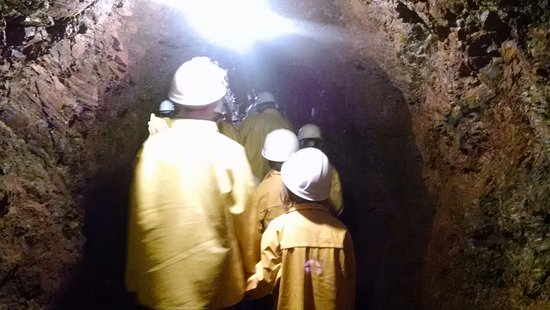Iron Mountain, MI: walking in the tunnels