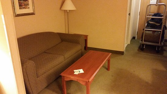 Quality Inn & Suites at Olympic National Park: Comfy couch