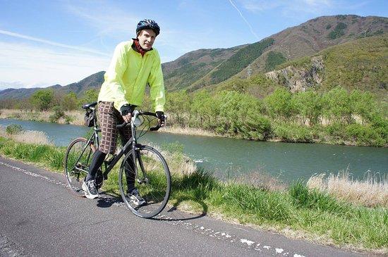 Cycling along the Chikuma River