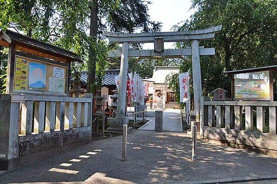 Shiraoka, Jepang: 鳥居から拝殿