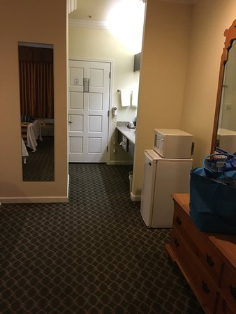 Americas Best Value Inn & Suites: Room # 105 - 2 queen beds - Looking towards the entrance of the room