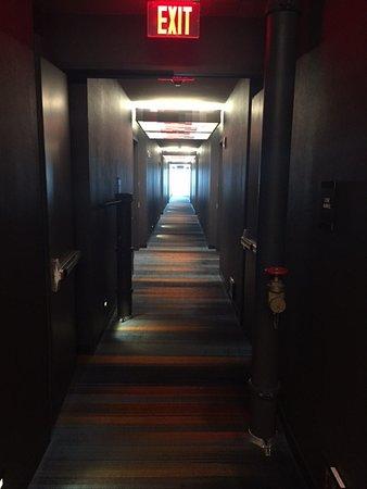 Aloft Santa Clara: The Dark Hallway With Those Weird Pipes