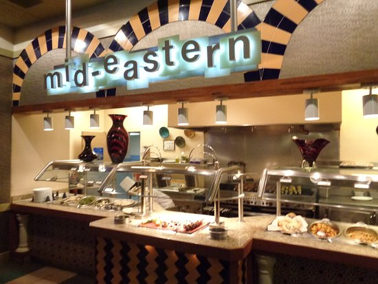 E Market Buffet Middle Eastern Section