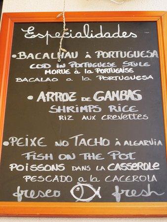 Restaurante O Pescador Plat Du Jour