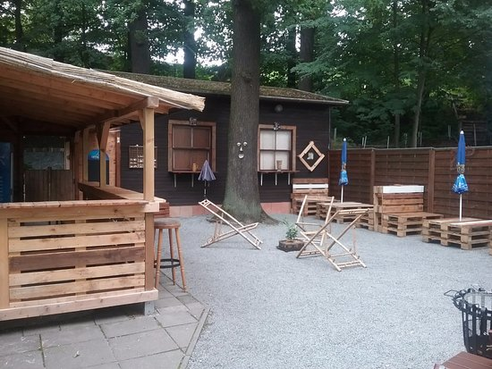 Loebau, Tyskland: Biergarten