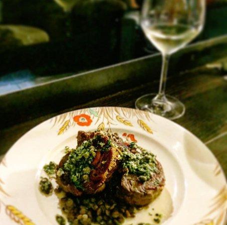 Хепберн-Спрингз, Австралия: Slow roasted goat shoulder with salsa verde