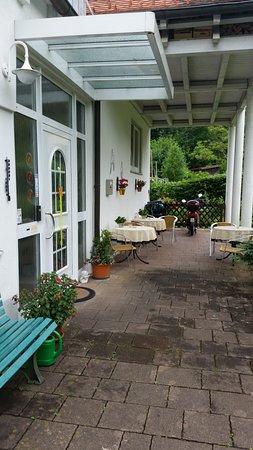Schwarzwaldhotel Garni Wolfach : Rear of hotel with Reception