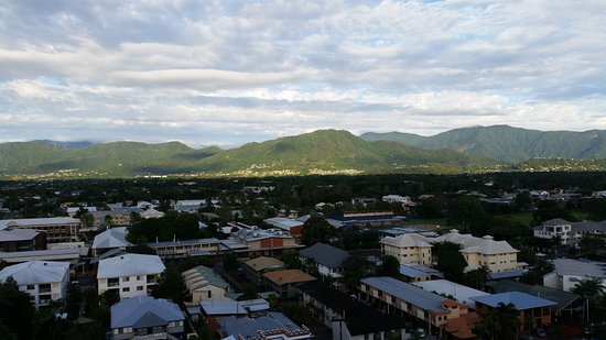 Rydges Esplanade Resort Cairns: View from mountain view room on 12th (top) floor.