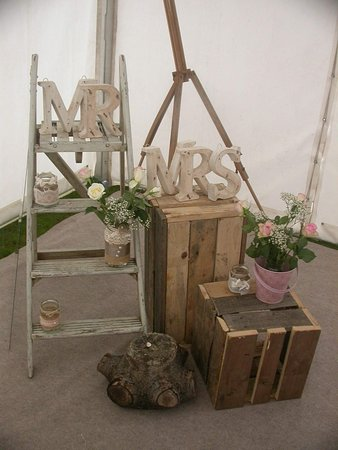 Blackrod, UK: Arrangement in the Marquee