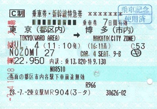 Chugoku, Japan: Nozomi Shinkansen - Tokyo-Hakata