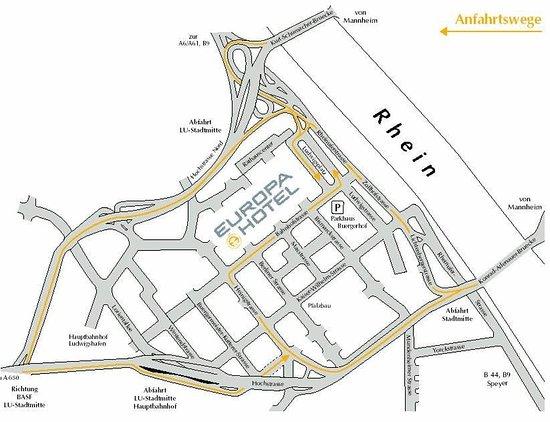 Europa Hotel: map