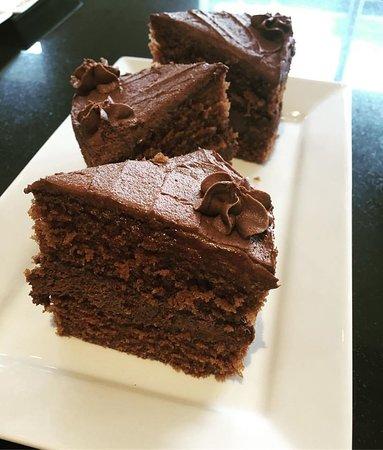 Stokesley, UK : Cake Shelf Chocolate Cake
