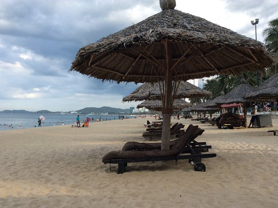 Intercontinental Nha Trang Thatched Private Beach Umbrellas For Ic Guests Use