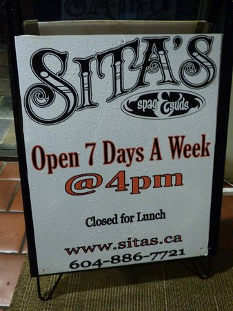 Gibsons, Canada : Sita's Spag & Spuds......and a whole lot more!