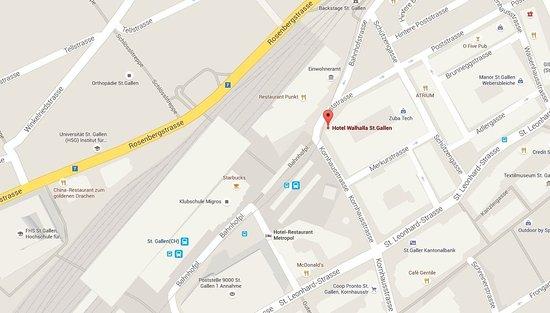 Hotel Walhalla: Map