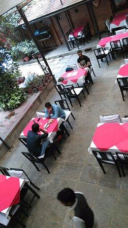 Thamel House Restaurant : Shot from balcony