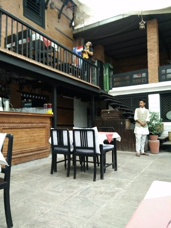 Thamel House Restaurant : View from courtyard