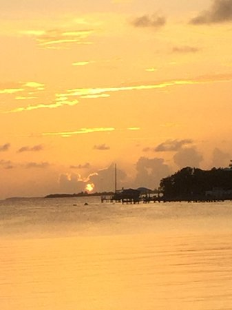 Sunset at grabbers, great guana cay