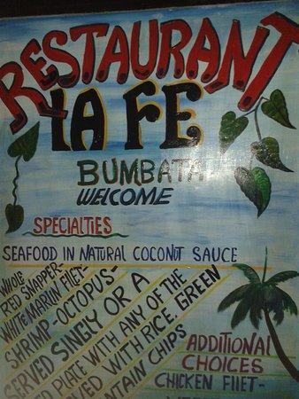 Restaurant Tipico Cahuita: Cartel de la entrada