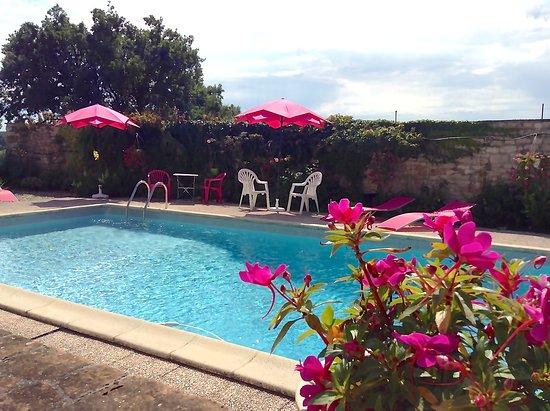 Castelnau-de-Montmiral, Frankrijk: Relax by the lovely pool