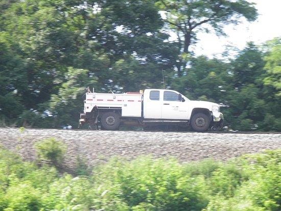 Altoona, Pensilvania: La voiture équipée pour emprunter les rails