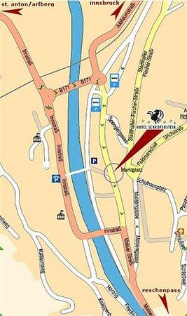 Hotel Schrofenstein: map