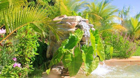 Castelo Vendom: waterfall in the swimming pool