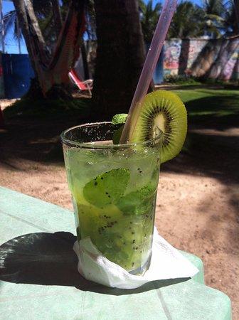 Milk Beach Pub: Suco de Kiwi com Hortelã