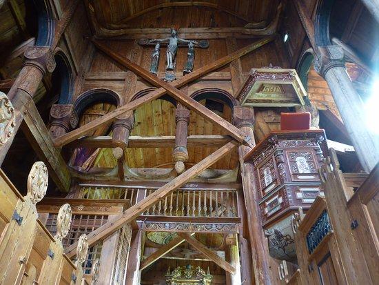 Sogn og Fjordane, Norveç: Интерьер церкви