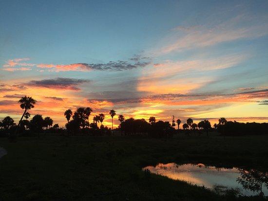 Παραλία Flagler, Φλόριντα: Beautiful sunset over the golf course