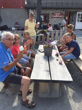 Roros, Norveç: Glass innan resan tillbaka till Funäsdalen.