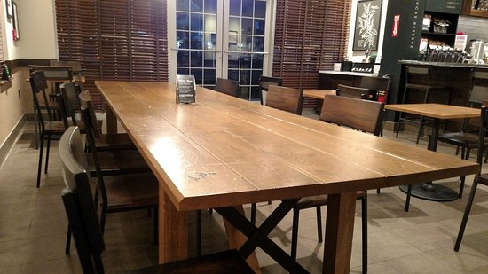 Communal table picture of starbucks hopkinton tripadvisor - Restaurant communal tables ...