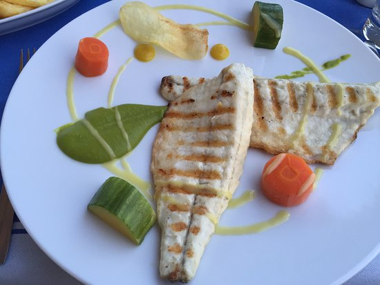 Theo's Seafood Restaurant: Sea Bass - Dinner menu