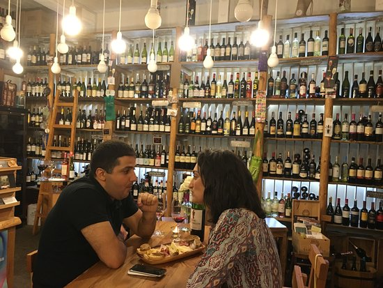 In Vino : Wall to wall wine and romance it seems!