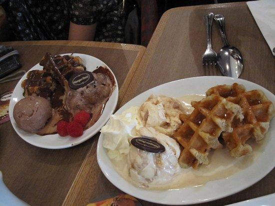 Haagen Dazs : waffles galore