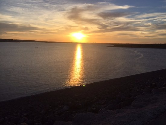 Lago Canyon, TX: Canyon Lake sunset