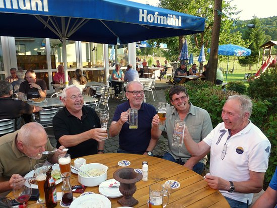 Eichstatt, Allemagne : Biergarten
