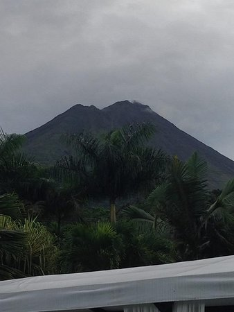 The Royal Corin Thermal Water Spa & Resort: Volcano view from main hot pool