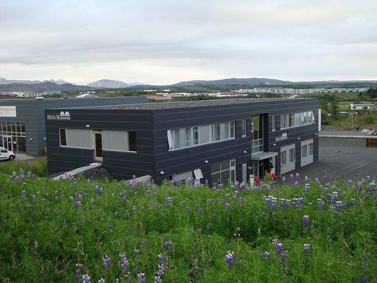 Kopavogur, Ισλανδία: Blick auf das Hotel