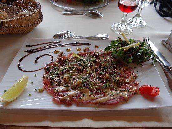 Issigeac, Fransa: Carpaccio de thon