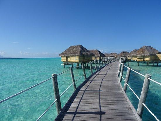 Le Taha'a Island Resort & Spa: Zugang zu den Overwatervillen.