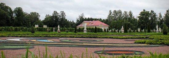 Lomonosov, Russia: Оформление газона перед Большим Меншиковским дворцом