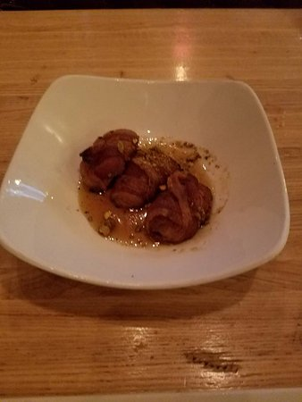 The Pig: Bacon wrapped Peaches