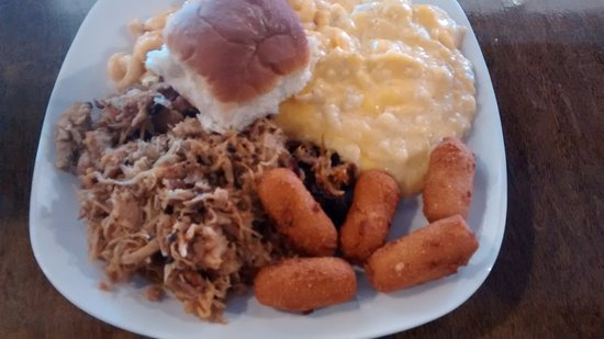 Sparta, NC: BBQ Pork plate with sides